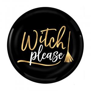 Пластиковые тарелки Witch Please (19 см - 4 тарелки)