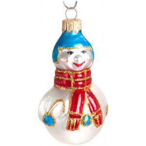 """Елочное украшение """"Снеговик с шарфом """""""