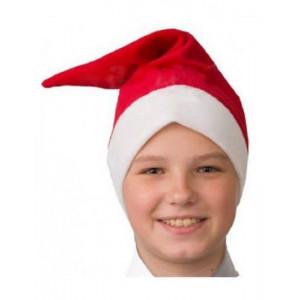 Колпак красный новогодний детский