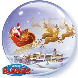 Шарик BUBBLE Санта на санях