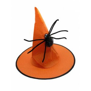 Колпак Ведьмы оранж. с пауком