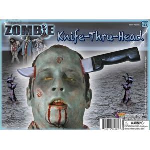 Нож зомби сквозь голову 1