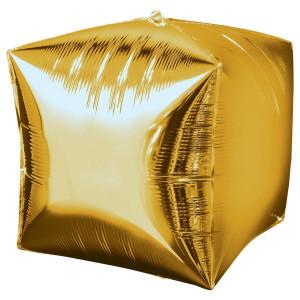 "А 3D КУБ 15"" Б/РИС Металлик Gold"