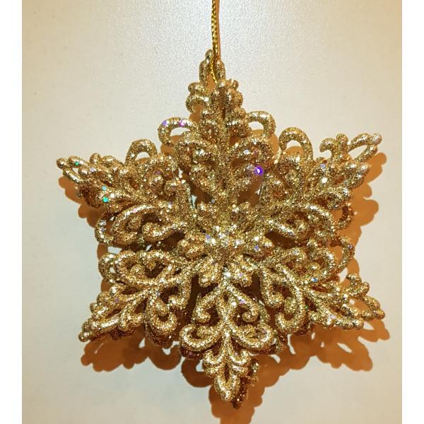 Снежинка Кристал обьемная №2 (золото)