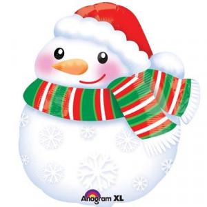 А Фигура /S50 Снеговик в шарфе
