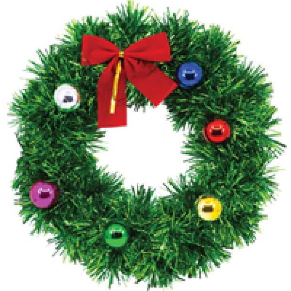 Венок Рождественский мишура подвесной