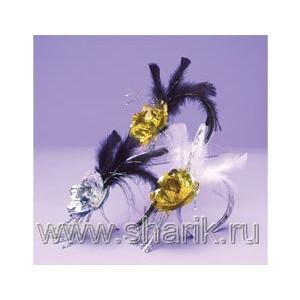 Ободок на голову Цветок с перьями/А