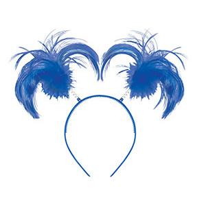Ободок-антенки Хвостики синие/А