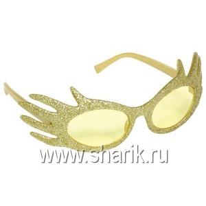Очки Привидение блеск золотые/А