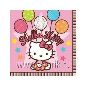 Салфетка Hello Kitty 33см 16шт/А