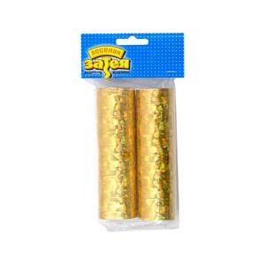 Серпантин голографический золотой 2 столбика/36 колец/G