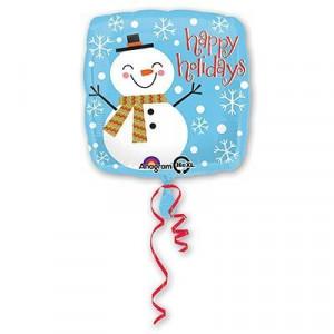 """Шар 18"""" Снеговик счастливый"""