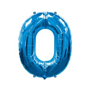 А Цифра 0 Blue