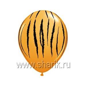 "Шелк 11"" Полоски тигр Orange/Q"
