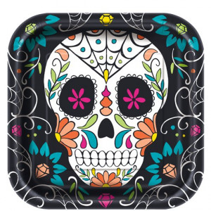 "Тарелка ""Skull Day Of The Dead"""