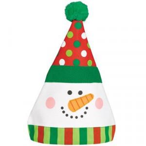 Колпак Снеговик Забавный, текстиль