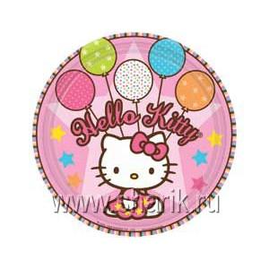 Тарелка Hello Kitty 17см 8шт/А