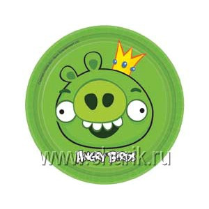 Тарелка Angry Birds 17см 8шт/А