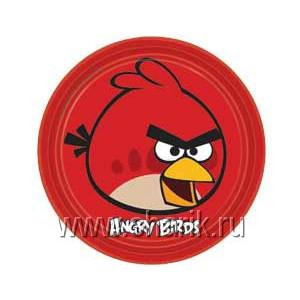 Тарелка Angry Birds 23см 8шт/А
