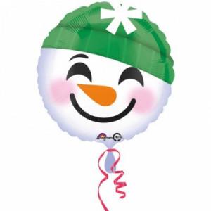 """А 18"""" Улыбка Смайлик снеговик"""